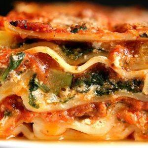 Λαζάνια φούρνου με λαχανικά
